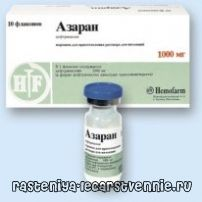 Азаран: інструкція із застосування антибіотика