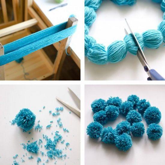 Как сделать коврик из помпонов своими руками: помпоны