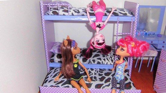 Как сделать мебель для кукол монстер хай?