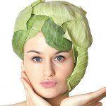 Маска для волосся з соку капустяного листя