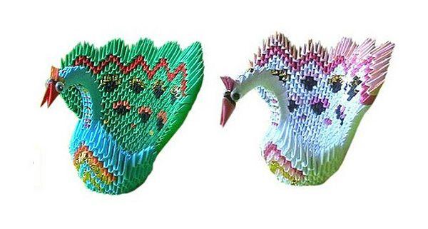 Оригами из треугольных модулей