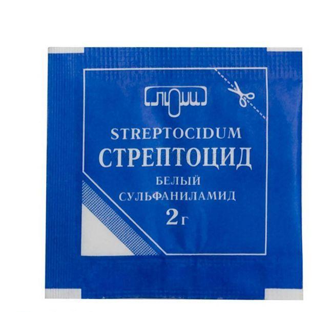 Стрептоцид порошок - застосування та інструкція