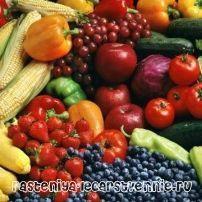 Свіжі овочі та фрукти, користь і шкода